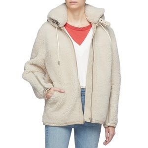 Rag & Bone Ashlee Genuine Shearling Hooded Coat